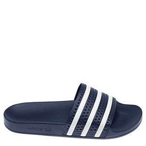 adidas Originals adilette Slipper Badelatschen Herren blau / weiß – Bild 1