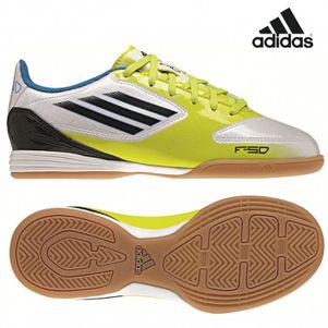 adidas F10 IN J Junior Kid Kinder Hallenfußballschuh weiß/gelb