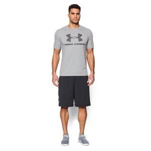 Under Armour Sportstyle Logo T-Shirt schwarz / grau / navy – Bild 19