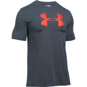 Under Armour Sportstyle Logo T-Shirt schwarz / grau / navy – Bild 7
