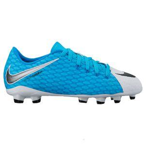 Nike Junior Hypervenom Phelon III FG Motion Blur Pack weiß / blau – Bild 1