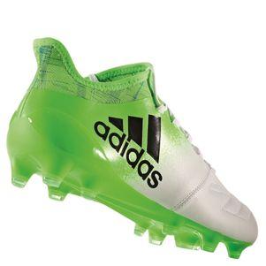 adidas X 16.1 FG Leder Fußballschuhe Turbocharge Pack weiß / grün – Bild 3