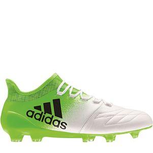 adidas X 16.1 FG Leder Fußballschuhe Turbocharge Pack weiß / grün – Bild 1