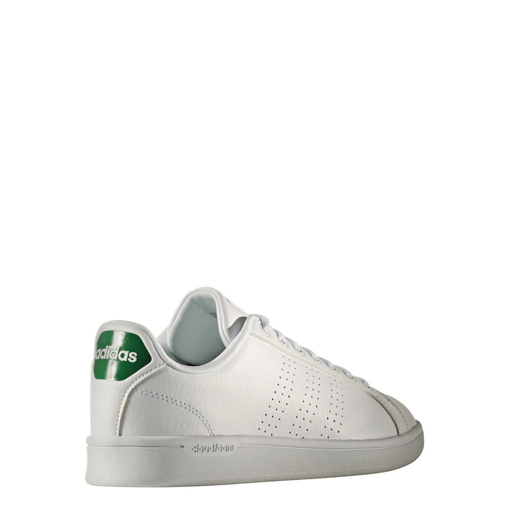 adidas neo Advantage Clean Cloudfoam Sneaker weißgrün Mode