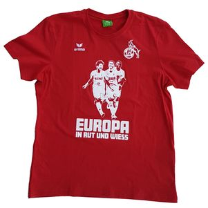 erima 1. FC Köln Europa in rut und wiess T-Shirt rot