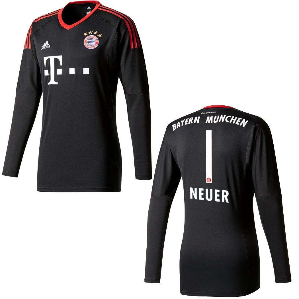 adidas Bayern München Torwarttrikot Manuel Neuer Trikot 20172018 schwarzrot