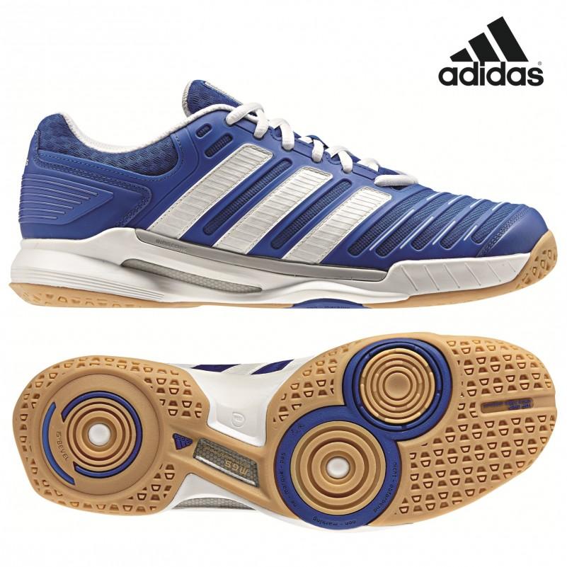 adidas adipower stabil 10.0 Handballschuh blau / weiß / silber