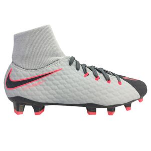 Nike Junior Hypervenom Phelon III Dynamic Fit FG Rising Fast Pack rot / grau