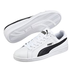 Puma Smash L Sneaker weiß / schwarz weiß / blau – Bild 5