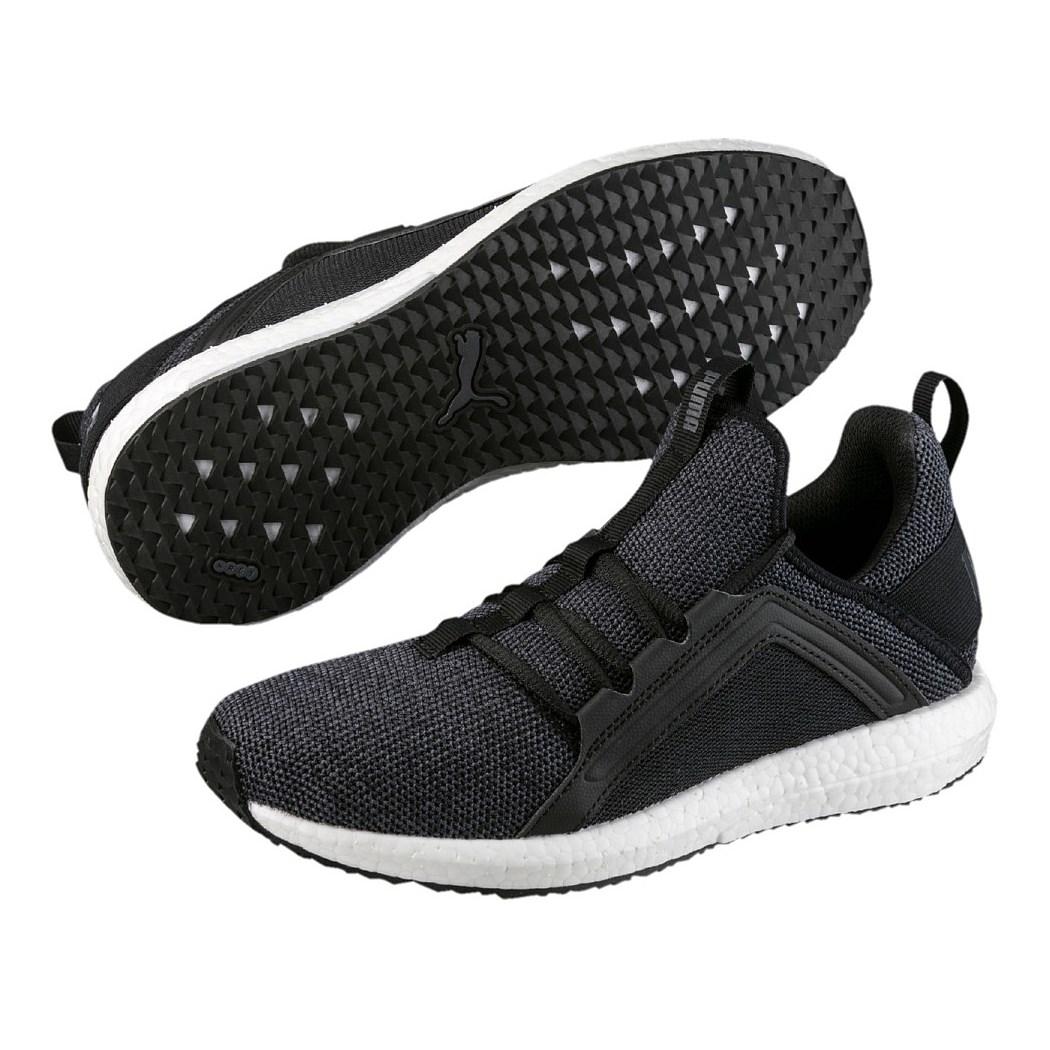 Puma Mega NRGY Knit Damen Laufschuhe Sneaker schwarz