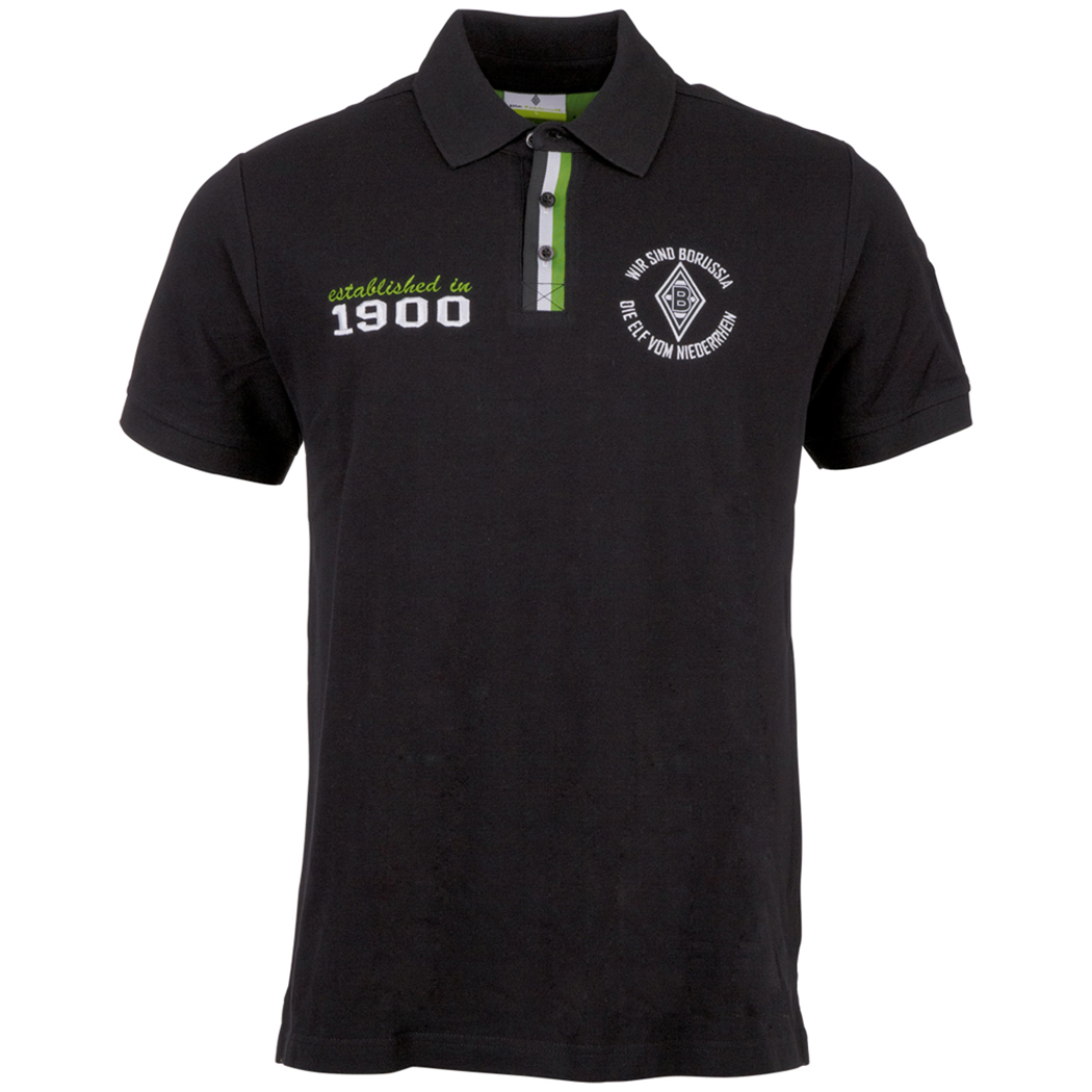 kappa borussia m nchengladbach unbranded poloshirt schwarz fanshop bundesliga borussia. Black Bedroom Furniture Sets. Home Design Ideas