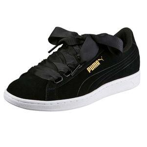 Puma Vikky Ribbon Damen Sneaker schwarz / bordeauxrot – Bild 5