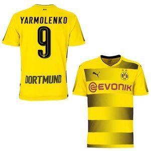 Puma BVB Borussia Dortmund Heimtrikot 2017/2018 gelb mit Flock – Bild 3
