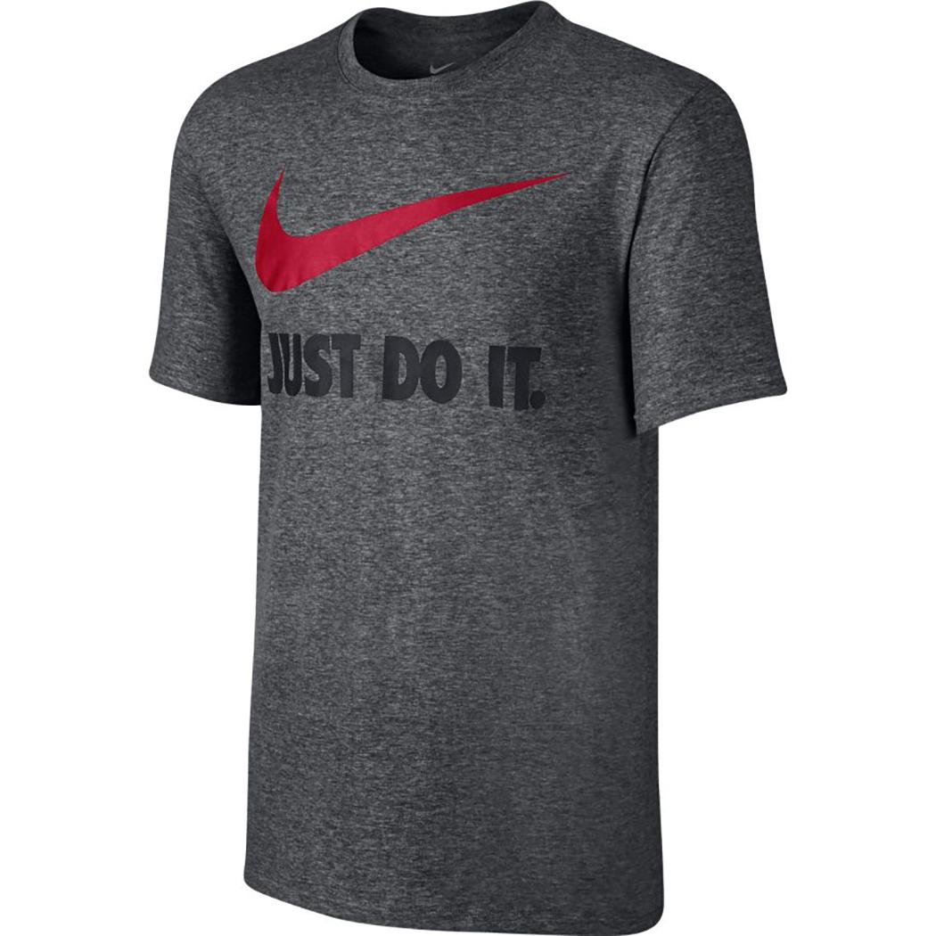 Nike T Shirt Nike New Just Do It Swoosh grau