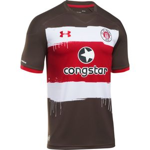 Under Armour FC St. Pauli Home Heimtrikot 2017/2018 braun – Bild 1