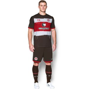 Under Armour FC St. Pauli Home Heimtrikot 2017/2018 braun – Bild 3