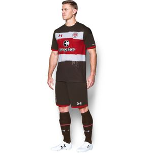 Under Armour FC St. Pauli Home Heimtrikot 2017/2018 braun – Bild 4
