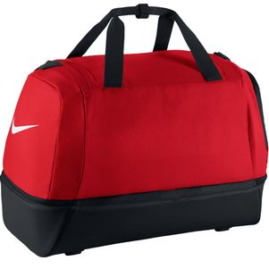 Nike Club Teambag Swoosh Sporttasche mit Bodenfach Größe L rot blau schwarz – Bild 7