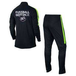 Nike Dry Academy Trainingsanzug Polyesteranzug schwarz/grün – Bild 2