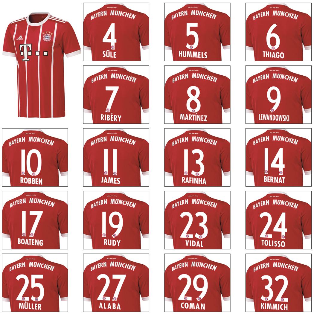 Bayern Rückennummern