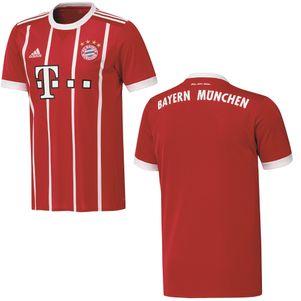 adidas FC Bayern München Home Heimtrikot mit Flock 2017 / 2018 – Bild 2