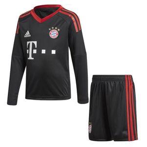adidas FC Bayern München Home Towart Minikit 2017/2018 schwarz / rot  – Bild 1