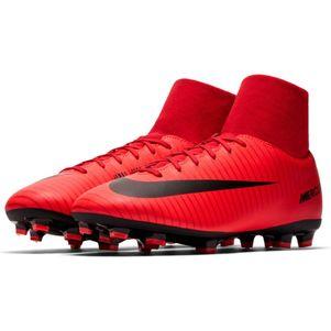 Nike Kinder Mercurial Victory VI Dynamic Fit FG rot / schwarz – Bild 4