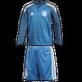 adidas DFB Deutschland Torwart Minikit Heimtrikot WM 2018 blau / weiß