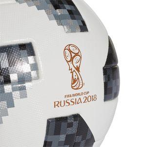 adidas Telstar 18 OMB Matchball WM 2018 Fußball Gr. 5 weiß / schwarz – Bild 3