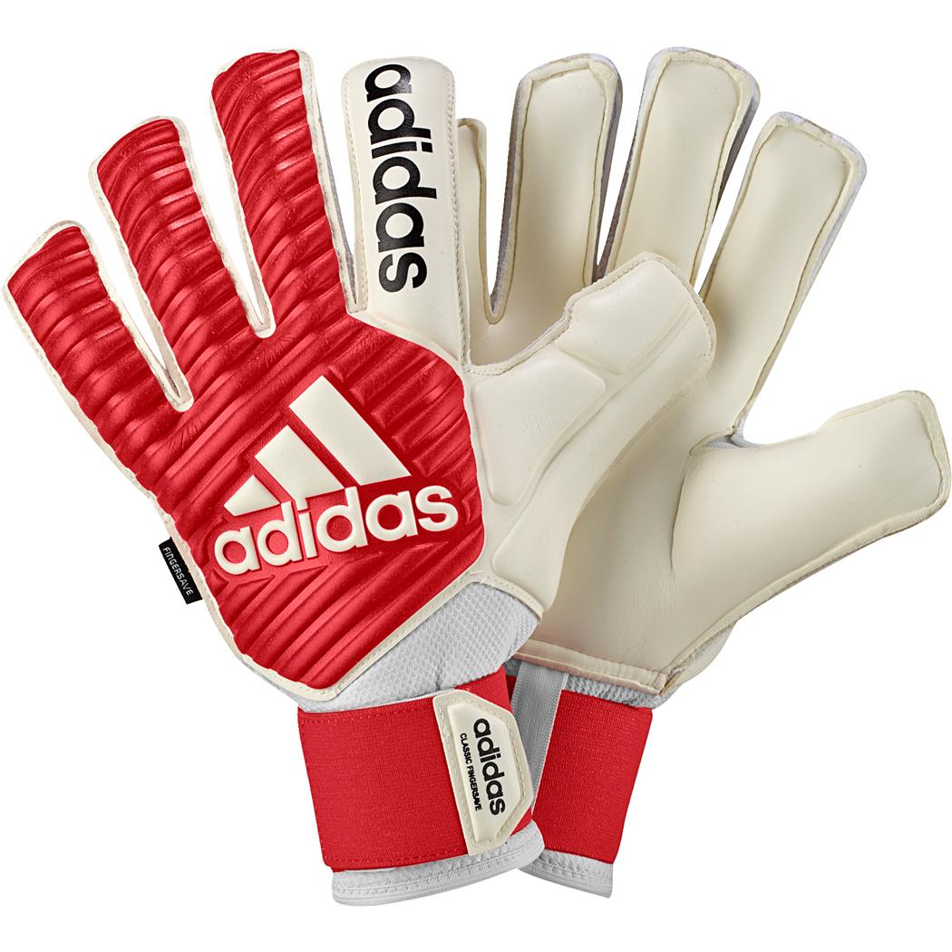 adidas Classic Fingersave Torwarthandschuhe weiß rot