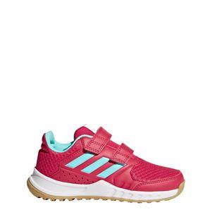 adidas Kinder FortaGym CF Hallensportschuhe Klettverschluss pink – Bild 1