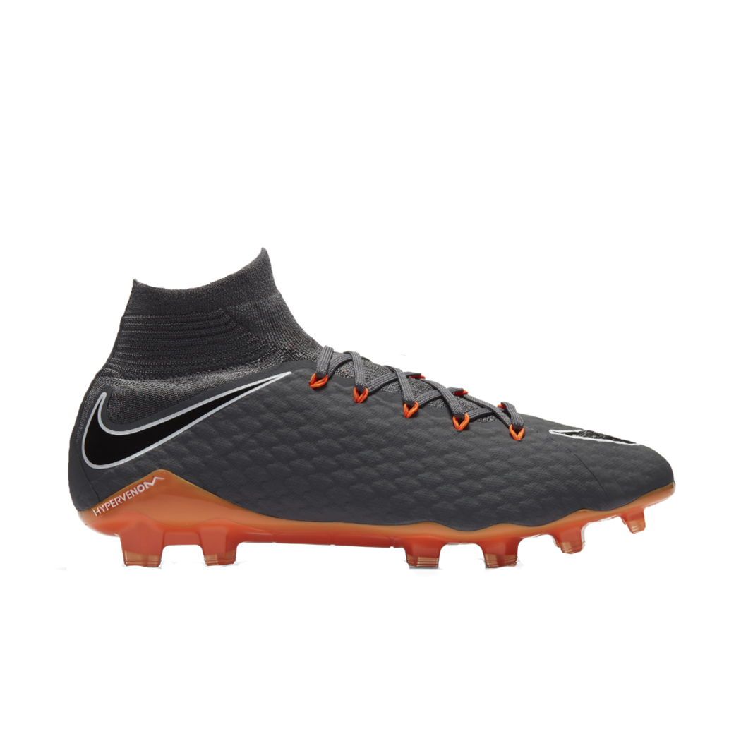 promo code 67897 8bc42 Nike Hypervenom Phantom 3 Pro Dynamic Fit FG grau / orange Schuhe ...