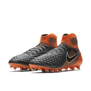 Nike Magista Obra 2 Elite Dynamic Fit FG grau / orange – Bild 5