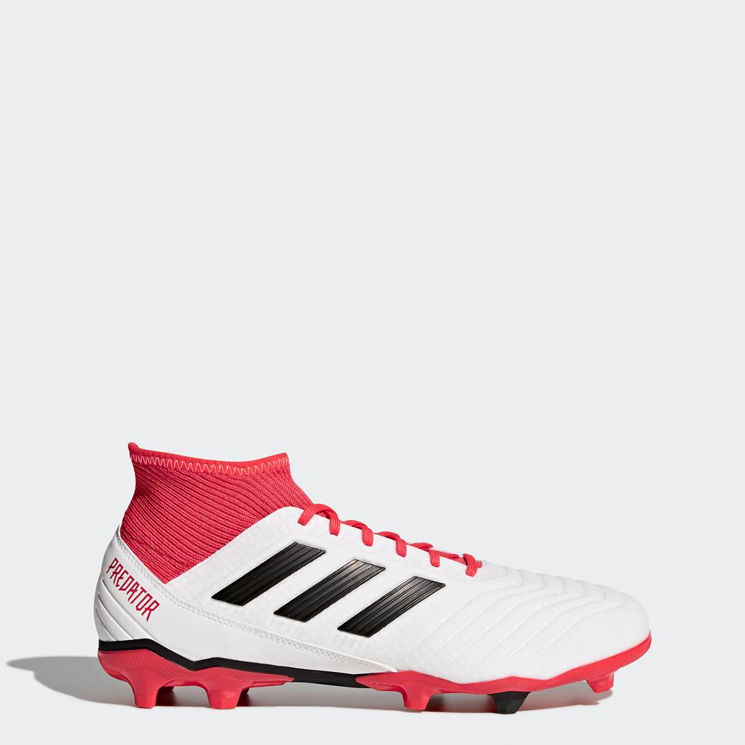 adidas Predator 18.3 FG Fußballschuhe weiß / rot