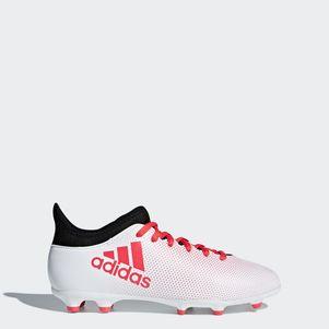 adidas Kinder X 17.3 FG Fußballschuhe weiß / rot – Bild 1