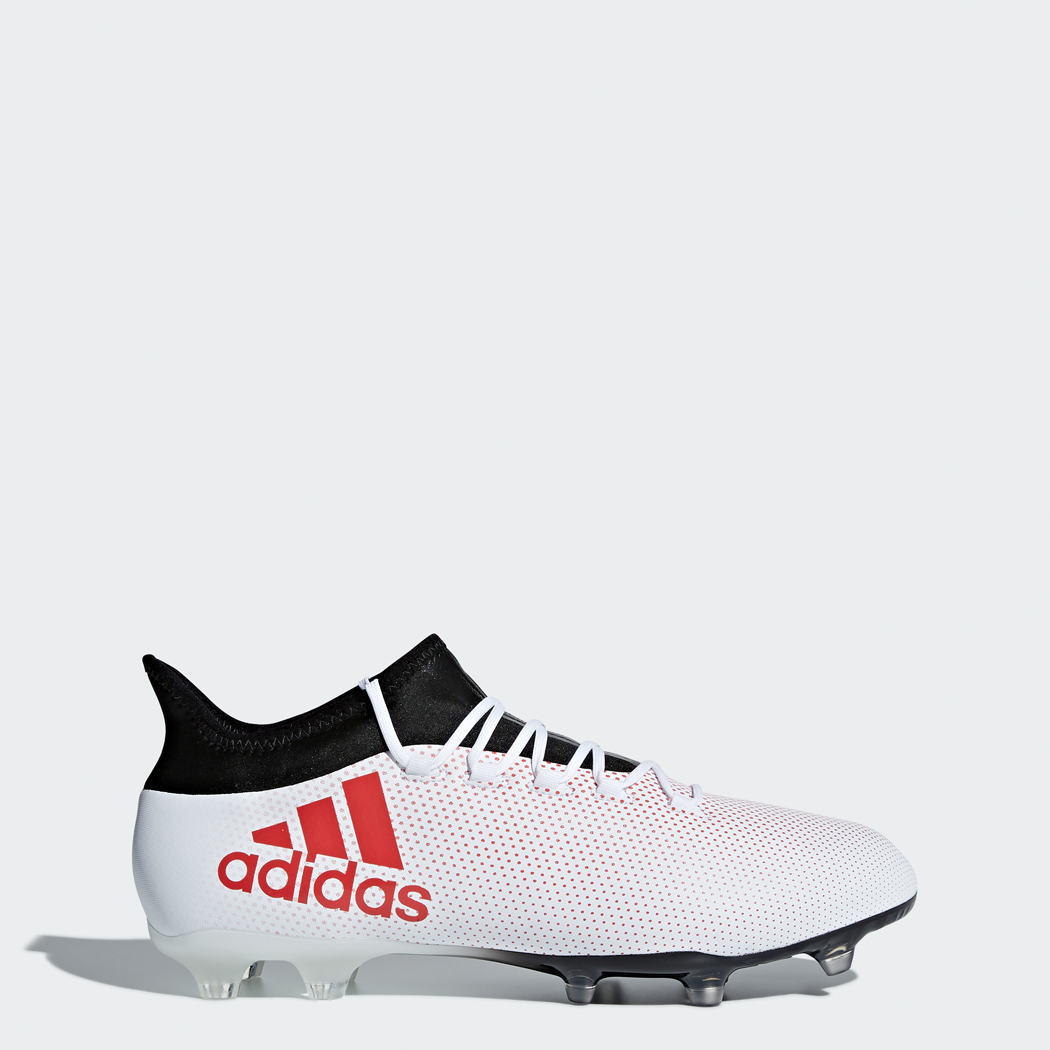adidas X 17.2 FG Fußballschuhe weißrot