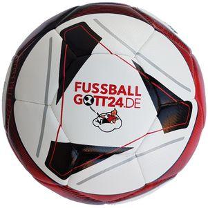 erima Hybrid Training Fußball FUSSBALLGOTT24 weiß / rot / schwarz – Bild 1