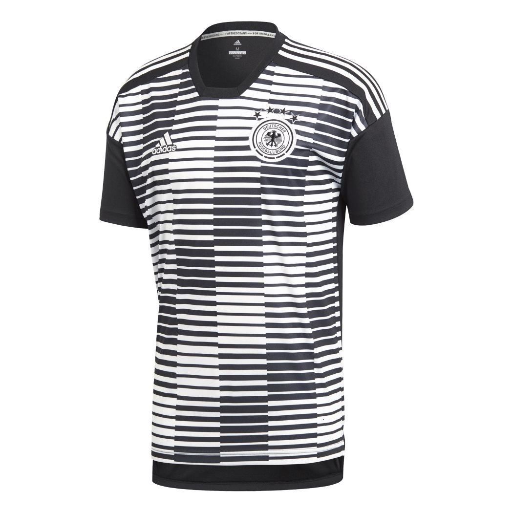 buy popular detailed pictures sale online adidas DFB PRE-MATCH SHIRT Aufwärmtrikot WM 2018 schwarz / weiß