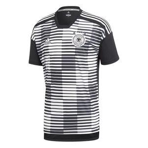 adidas DFB PRE-MATCH SHIRT Aufwärmtrikot WM 2018 schwarz / weiß – Bild 1