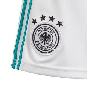 adidas DFB Away Short Kinder Trikothose Auswärts Deutschland weiß / grün WM 2018 – Bild 2