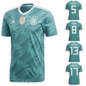 adidas DFB Away Deutschland Auswärtstrikot grün WM 2018 auch mit Flock – Bild 1