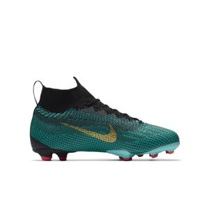 Nike Kinder Mercurial Superfly 6 CR7 Ronaldo Elite FG jadegrün – Bild 2