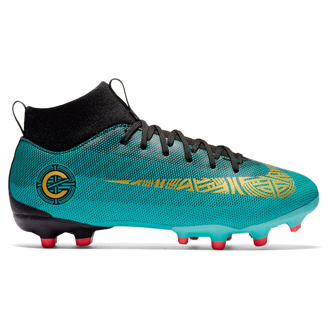 f44d4c1bb86d21 Nike Kinder Mercurial Superfly 6 Academy GS MG CR7 Ronaldo jadegrün ...