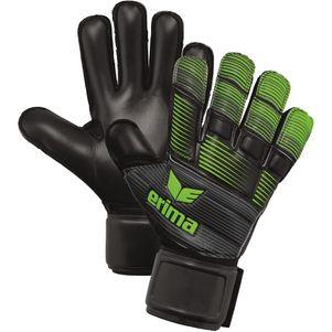 erima Skinator Hardground Torwarthandschuhe Fingerschutz schwarz / grün – Bild 1