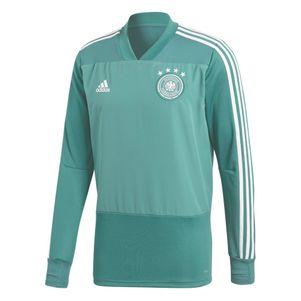adidas DFB Trainingstop Pullover Herren Deutschland WM 2018 grün / weiß – Bild 1