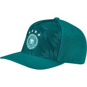 adidas DFB Deutschland Flat Cap mit Snap-Back Verschluss WM 2018 grün – Bild 1