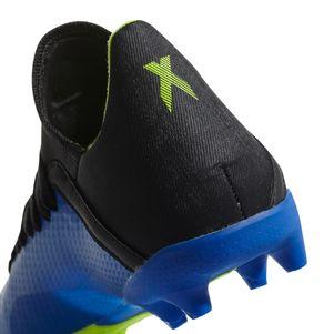 adidas Kinder X 18.3 FG  Blau / Schwarz / Gelb – Bild 6