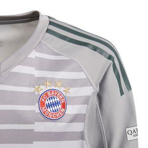 adidas Kinder Bayern München Torwarttrikot 2018/2019 grau – Bild 2