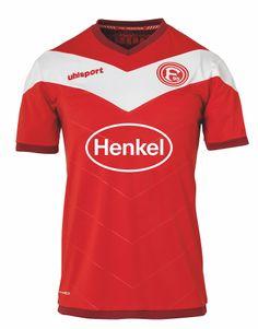 uhlsport Fortuna Düsseldorf F95 Heimtrikot KA 18/19  rot / weiß
