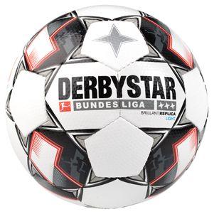 Derbystar Brillant Replica Light 350 Gramm Fußball Bundesliga 2018 / 2019 weiß / schwarz / rot